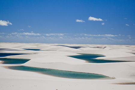 Sand dune of lencois-malagnancess National Park Stock Photo