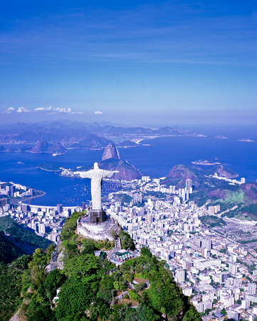 Aerial of the statue of Christ