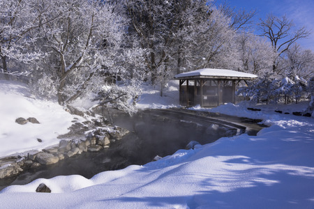 Snow in Hokkaido, Japan Foto de archivo - 110632099