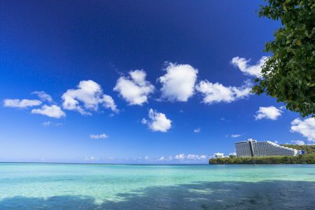 Tamon beach in Guam Island