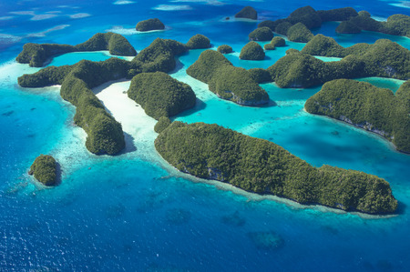 Beautiful coral sea and aerial photography