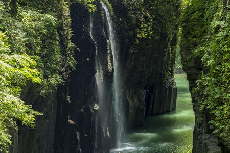 Manai waterfall of Takachiho-Kyo Gorge