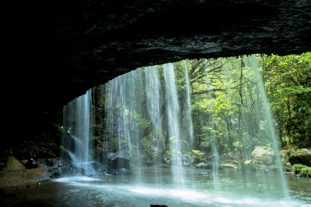 Nabegataki waterfall in oguni town, Kumamoto Prefecture