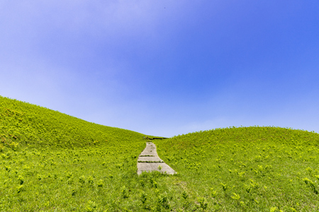 ASO plateau in early summer Stock Photo