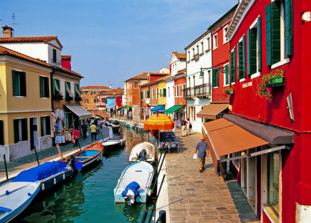 Colorful rooftops of Venice Burano island 写真素材