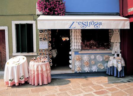 Venice Burano island souvenir shop