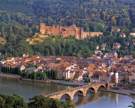 Evning view of Heidelberg Castle