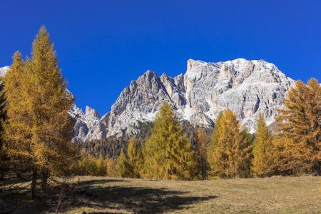 Autumn view of the Dolomites