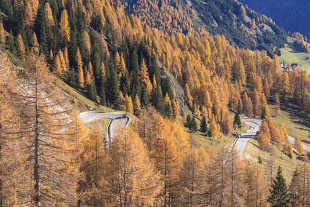 Autumn view of the Dolomites