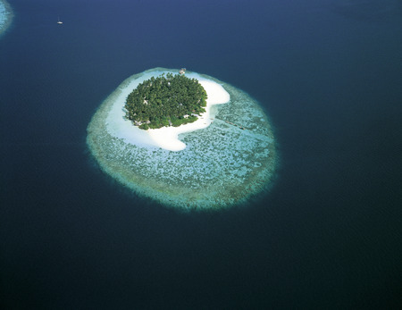 Maldives Islands, aerial view