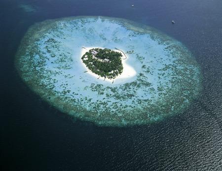 Maldives Islands, aerial view