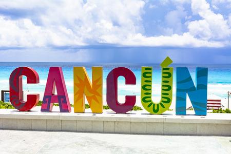 Station balnéaire du Yucatan Cancun Banque d'images
