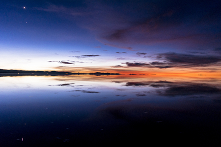 View of the salar de Uyuni Salt Lake
