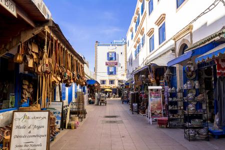 Souvenir shop in Essaouira