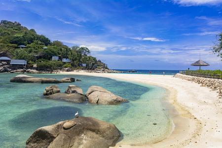 Beautiful Resort Koh Nang Yuan island in the Gulf of Thailand