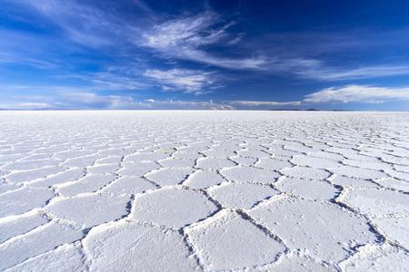 Salzsee Salar de Uyuni während der Trockenzeit Standard-Bild