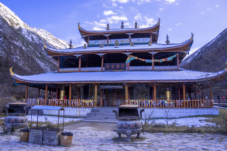 Yellow dragon temple in sichuan province