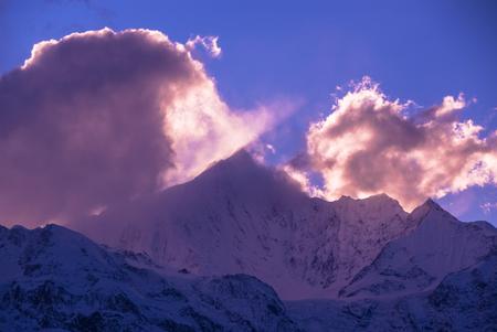 Meili Xue Shan mountain in Yunnan province Stock fotó