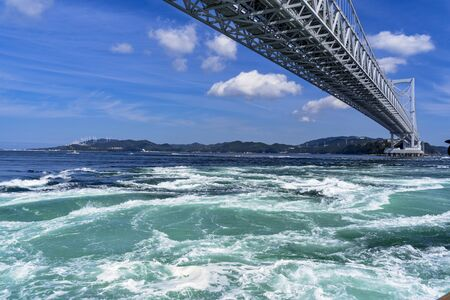 The Whirlpool Tide of naruto Strait and the Great Naruto Bridge