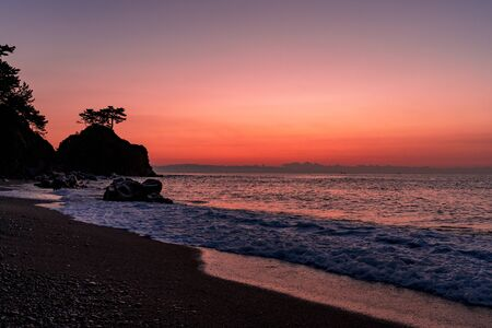 Sunrise at Urakatsurahama Beach Stok Fotoğraf - 148842644