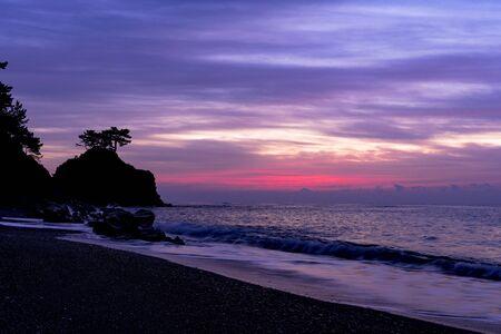 Sunrise at Urakatsurahama Beach Stok Fotoğraf - 148842691
