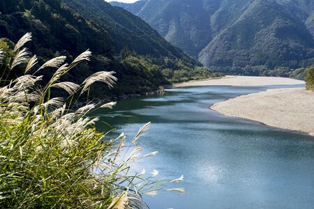 The Clear Stream of the Shimanto River Stok Fotoğraf - 148843963
