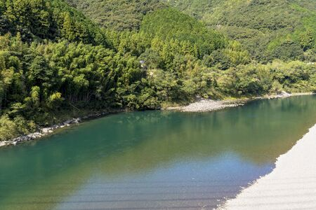 The Clear Stream of the Shimanto River Stok Fotoğraf - 148844015