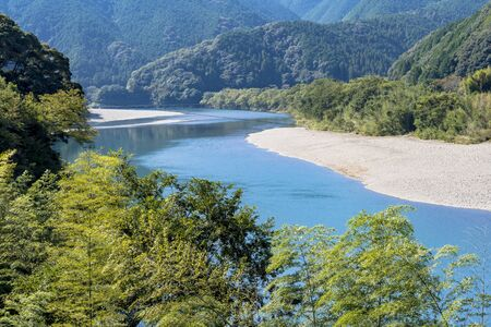 The Clear Stream of the Shimanto River 写真素材