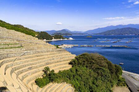 Yusu's thousand rice terrace 写真素材