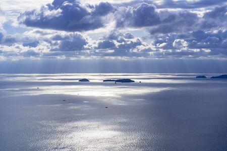 The sea shining brightly