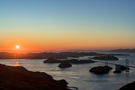 Sunset in the kurushima strait
