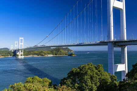 Shimanami Kaido Kurushima Strait Bridge and The Seto Inland Sea Stok Fotoğraf - 148957766