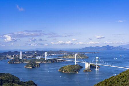 Shimanami Kaido Kurushima Strait Bridge and The Seto Inland Sea