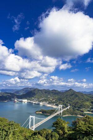 Shimanami Kaido, Oshima Bridge and Islands of Setouchi 写真素材
