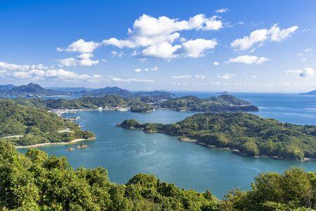 Seto Inland Sea from Hakata Oshima Bridge 写真素材