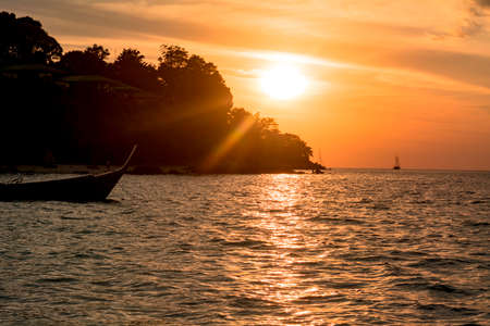 Beautiful evening view of Lipe Island Resort 版權商用圖片