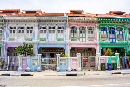 Colorful residential area in Caton district 新聞圖片
