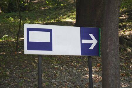 a bent road sign, bent post. traffic regulations. road safety