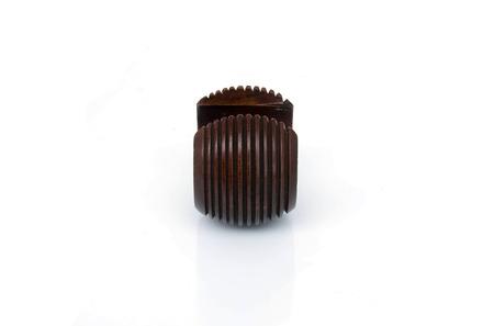 wood Bracelet isolated on white background photo