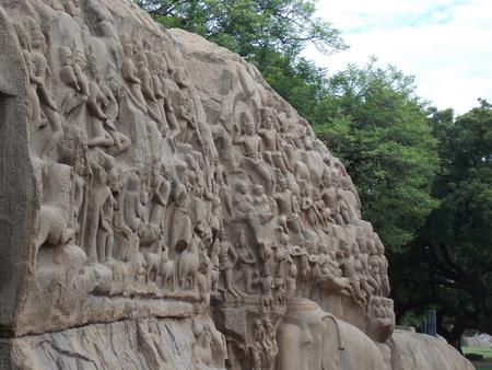 A VERY ANCIENT WALL IN MAHABALIPURAM CHENNAI TAMILNADU