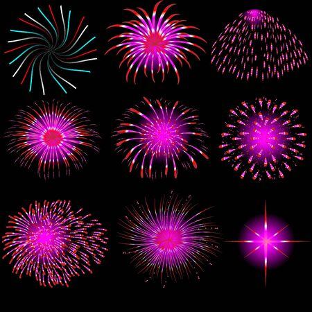 vector fireworks Stock Vector - 9665851