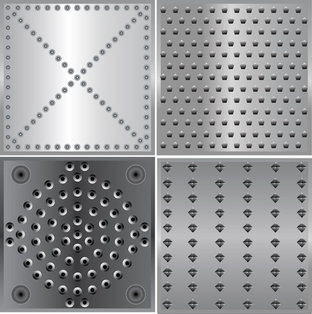 metal plate background texture of metal Illustration