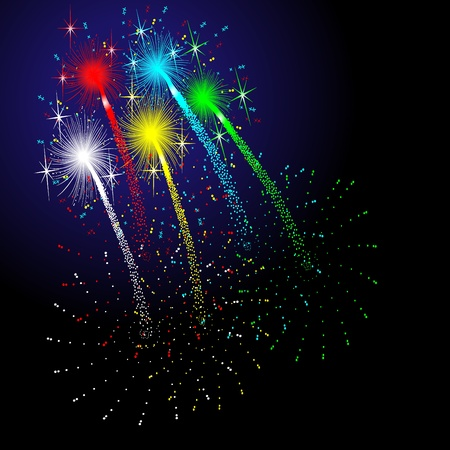 new start: fireworks Illustration
