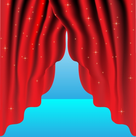 Abstract curtain background
