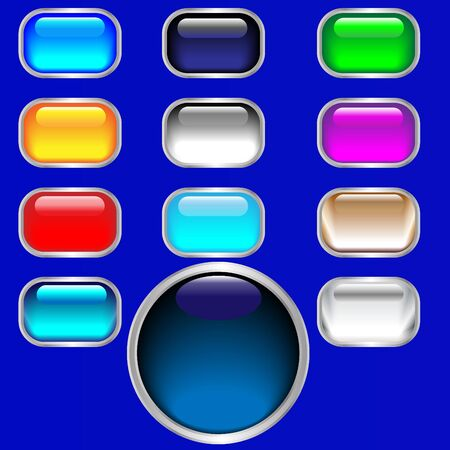 Buttons, glossy web Illustration