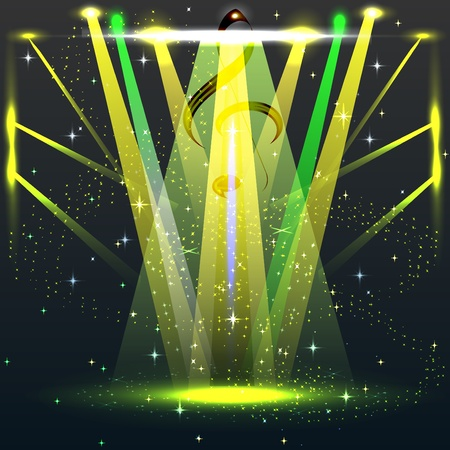 laser show: colorful lights in a concert stage