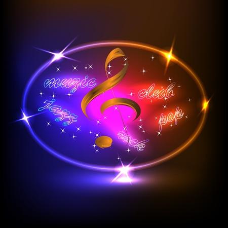 musical club Illustration