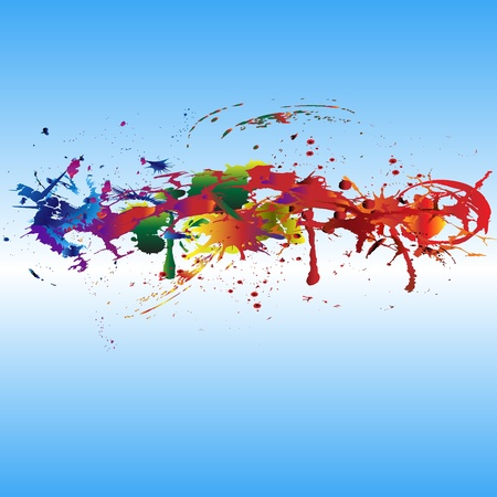 Color paint splashes. Gradient vector background Illustration
