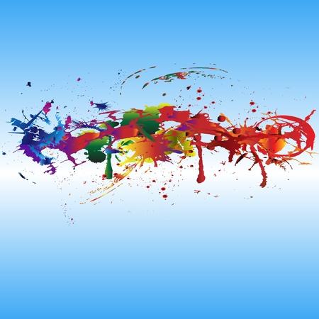 Farbe Farbspritzer. Gradient vector background