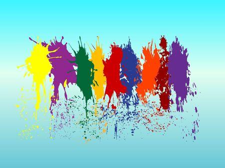 Color paint splashes Illustration